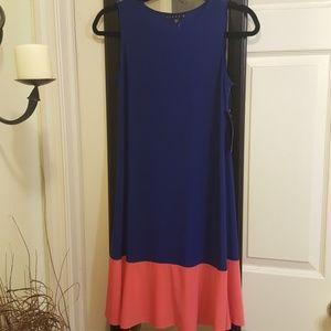 Tiana B. Navy and Coral Cute Sleeveless Dress
